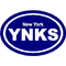 New York Yankees Oval Decal / Sticker