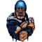 Blue Football Player Decal / Sticker 01