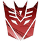 Transformers Decepticon 06 Burgundy Embossed Metal Decal / Sticker