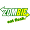 ' Zombie Eat Flesh Decal / Sticker Subway Style