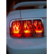 Flaming Tail Light Covers for 05-09 Mustang