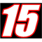 15 Race Number 2 Color Euromode Bold Font Decal / Sticker
