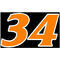 34 Race Number 2 COLOR Decal / Sticker