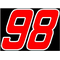 98 Race Number 2 COLOR Decal / Sticker