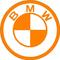 BMW Orange Decal / Sticker 08