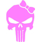 Girly Punisher with Bow Decal / Sticker 25