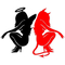 Angel and Devil Decal / Sticker
