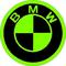 BMW Lime Green Decal / Sticker 14