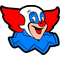 Bozo the Clown Decal / Sticker 03