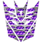 Purple Punched Engine Turned Decepticon Decal / Sticker