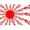 Japan Rising Sun Flames Decal / Sticker