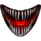 Scary Teeth and Mouth Decal / Sticker