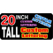 z2 Custom Lettering 20 Inch Tall Decal / Sticker