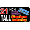 z2 Custom Lettering 21 Inch Tall Decal / Sticker