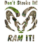 Heavy Timber Camo Don't Stroke It, RAM It Decal / Sticker