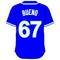67 Francisley Bueno Royal Blue Jersey Decal / Sticker