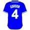 4 Alex Gordon Royal Blue Jersey Decal / Sticker