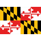 Maryland State Flag Decal / Sticker 04
