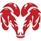 Simulated Red Glass Ram Decal / Sticker