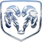 Simulated 3D Chrome Ram Decal / Sticker 30