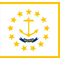 Rhode Island State Flag Decal / Sticker 01