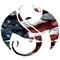 Strange Music American Flag Decal / Sticker 02