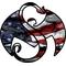 Strange Music American Flag Decal / Sticker 03