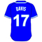 17 Wade Davis Royal Blue Jersey Decal / Sticker