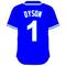 1 Jarrod Dyson Royal Blue Jersey Decal / Sticker