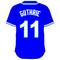11 Jeremy Guthrie Royal Blue Jersey Decal / Sticker