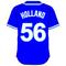 56 Greg Holland Royal Blue Jersey Decal / Sticker
