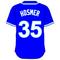 35 Eric Hosmer Royal Blue Jersey Decal / Sticker