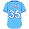 35 Eric Hosmer Powder Blue Jersey Decal / Sticker