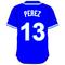 13 Salvador Perez Royal Blue Jersey Decal / Sticker