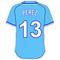 13 Salvador Perez Powder Blue Jersey Decal / Sticker