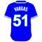 51 Jason Vargas Royal Blue Jersey Decal / Sticker