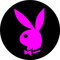 Circular Pink Playboy Decal / Sticker