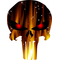 Flaming Punisher Decal / Sticker 36