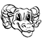 Rams Mascot Decal / Sticker 1