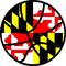 Maryland Flag Basketball Decal / Sticker 02