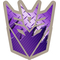 Transformers Decepticon 06 Purple Carbon Plate Decal / Sticker 03