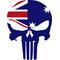 Australian Flag Punisher Decal / Sticker 01