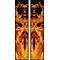 z 10 Inch Dual True Fire Racing Stripe Decal / Sticker 23