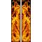 z 10 Inch Dual True Fire Racing Stripe Decal / Sticker 24