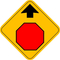 Stop Ahead Sign Decal / Sticker 01