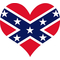 Confederate Flag Heart Decal / Sticker 04
