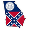 Georgia Outline State Flag Decal / Sticker 05