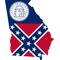 Georgia Outline State Flag Decal / Sticker 06
