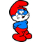 Full Color Papa Smurf Decal / Sticker