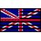 American United Kingdom Flag Decal / Sticker 01